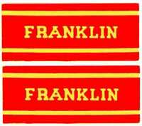 FRANKLIN OLD TIME STEAM ENGINE CAB STICKER American Flyer S Gauge Trains