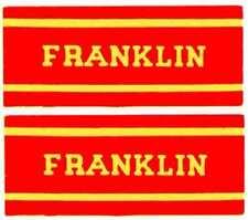 FRANKLIN OLD TIME STEAM ENGINE CAB STICKER for American Flyer S Gauge Trains
