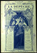 """Revue """"La Dépêche Dans la Famille"""" 25 Novembre 1901. 119 Gravures"""