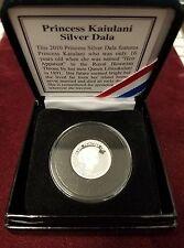2010 Princess Kaiulani 1/10th Ounce .999 Silver Hawaii Dala Medal RHM