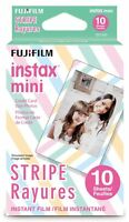 Fujifilm Instax Mini Instant Stripe Film, 10 Sheets