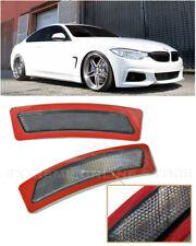For 14-Up BMW F32 F33 F36 4-Series | SMOKE Bumper Reflector Side Marker Lights