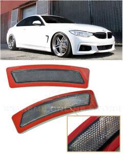 For 14-20 BMW F32 F33 F36 4-Series | SMOKE Bumper Reflector Side Marker Lights