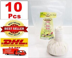 X10 Pcs Ball Herbal Compress Body Aroma Health Care Thai Facial Massage Spa 200g