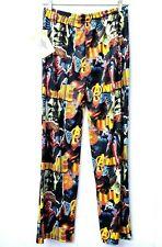 AVENGER Lounge Pants Sleepwear M Black Elastic Drawstring MARVEL Pajama
