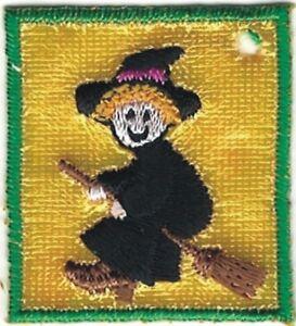 """1 """" Volant Sorcière Halloween Broderie Étiquette Patch"""