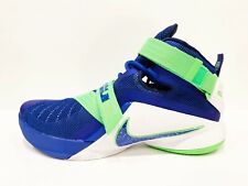 info for d0189 41fd1 Nike Lebron Soldier IX 9 Sprite Edition Blue Green Mens 749417-441 Size 11