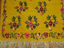Vintage Decorative Turkish Anatolian Oushak Ushak Kilim Rug 4'11''x7'3''