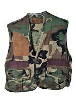 Vintage Caliber Sportsman Apparel Camouflage Shooting Hunting Vest Size Medium