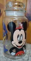 Disney Anchor Hocking Glass Mickey Minnie Donald Cookie Candy Jar Apothecary