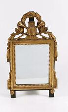 Miroir Du 19 ème Bois Doré Au Mercure Armoirie Musique