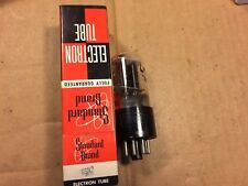Vintage Sylvania 6SN7GT Tube Black Plates 1951 tests Good Balanced