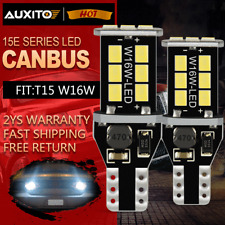 2X T15 W16W 921 CANBUS No Error LED REVERSE LIGHT BULBS PURE WHITE 15 SMD UK
