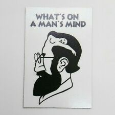 WHAT'S ON A MAN'S MIND funny pic Design Vintage Poster Magnet Fridge Collectible
