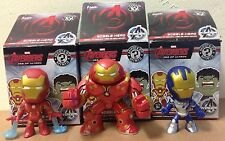 3 Funko Advengers Mystery Mini Iron Man Hulkbuster Legionnaire Blue Bobbleheads
