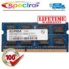 Elpida 2GB DDR3 PC3-10600S-9-10-F1 Portátil RAM SODIMM Memoria 598856-001