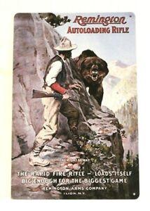 Remington Rifles Gun Tin Poster Sign Vintage Ad Style Garage Man Cave Shop Store