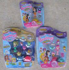 Splashlings Realms Princesses Playsets (3) With Mermaids 6 Pk & Two 12 Packs Moc