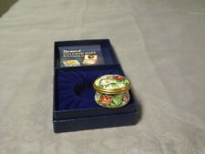 Halcyon Days Enamels La Traviata Violetta Metropolitan Opera Flowers Enamel Box