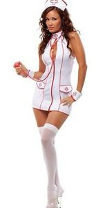 Halloween SEXY NURSE NAUGHTY COMPLETE OUTFIT COSTUME FANCY DRESS FETISH HEN Stag