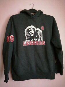 Bob Marley Hoodie legend Reggae size medium. grey