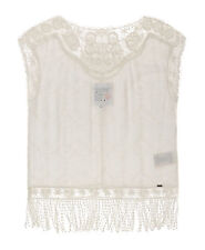 Neues Damen Superdry Lacy Schiffli Cape Top Cream