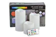 Colour Changing LED Candle Flameless Flickering LED Set with Remote