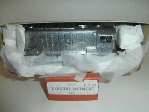 HO Walthers Undecorated Cast Metal Alco HH660 Diesel, Started, Athearn Frame