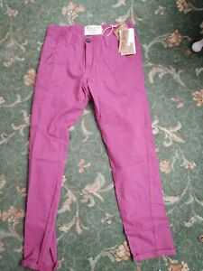 Bellfield skinny fit rhubarb pink cotton chinos pants jeans W30/L32 RRP 35.00