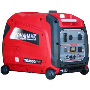 Tomahawk 3500 Watt Inverter Generator Super Quiet Portable Gas Power