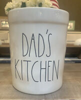 Rae Dunn by Magenta Long Letter DADS KITCHEN White Crock - NWT