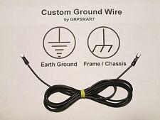 Universal Stereo Turntable Ground - BLACK Wire - BLACK Spade / Spade - 5 Feet
