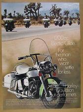 1970 Harley-Davidson Electra Glide motorcycle color photo vintage print Ad