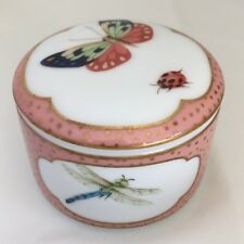 Tiffany Bone China Porcelain Insect Trinket Box Butterfly Dragonfly Ladybug Bee