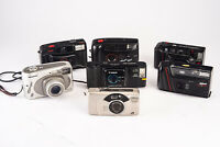 Lot of 7 Point & Shoot Film Cameras Canon Nikon Polaroid for PARTS REPAIR V16