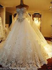 Lace White/ivory Wedding Dress Bridal Gown Custom Size: 6 8 10 12 14 16 18 20 ++