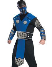 Mortal Kombat Sub Zero Men Video Game Jumpsuit Adult Halloween Costume Set