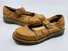 Dr Martens Women's Vintage Classic Mary Jane Shoe Brown Leather Size 8