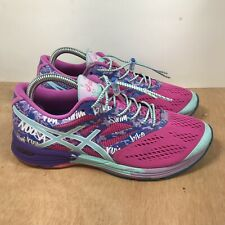 Asics Women's Gel Noosa Tri 10 T580N Pink Purple Running Shoes Lace Up Size 8.5