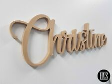 MDF Kids Name Letters Wall Hanging Wood Unpainted RAW MDF For Nursery/Kids