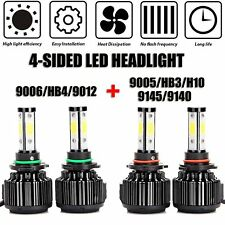 Car Headlight Bulb 9005 And 9006 LED Combo 4-Side High/Low Beam Super Bright