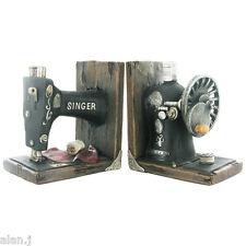 Singer Sewing Machine Shelf Tidy Heavy Resin Bookends by Fiesta Studio BRAND NEW