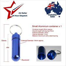 Small Waterproof Aluminium Container x1 Diameter 14mm pills survival kit matches