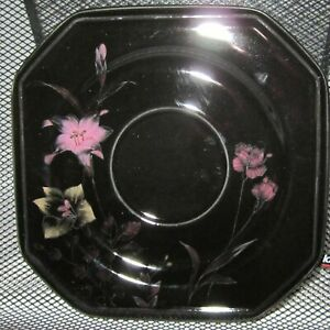 Mikasa EBONY MEADOW Black Pink Yellow Floral Dishes you pick what you need