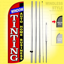 Window Tinting Auto Home Business Windless Swooper Flag Kit 15 Sign Rz H