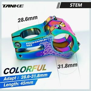 TANKE 31.8mm-28.6mm MTB Road Bike Stem 45mm 0° Short Bicycle Handlebar Stems