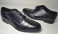 $125 size 10 Florsheim Jet Cap Black Leather Dress Oxfords Mens Shoes