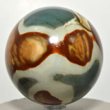 "2.75"" Multicolor Polychrome Jasper Sphere Natural Mineral Stone Ball Madagascar"