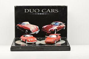 COFFRET DUO CARS PORSCHE 356 ET 911 TURBO UNIVERSAL HOBBIES 1/43 POUR ATLAS