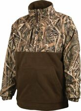 Drake Waterfowl MST Eqwader 1/4 Zip Pullover Youth Blades Size 12 DW3020-013-12